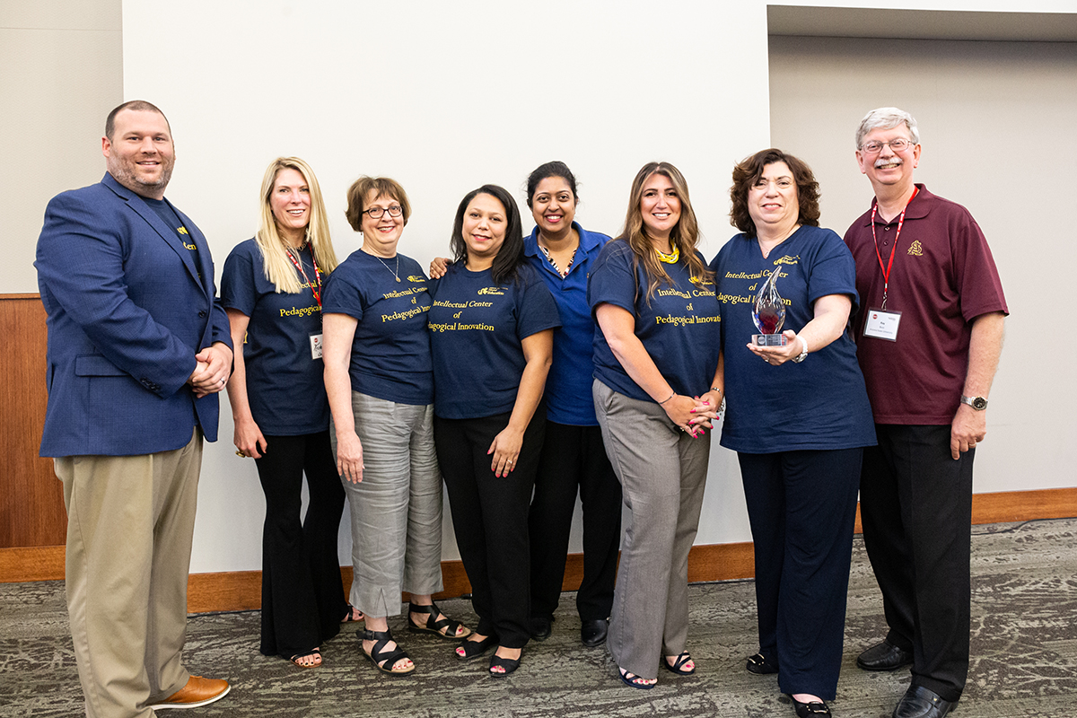 Drexel University EdD faculty team posing with the CPED Program of the Year Award in 2019.