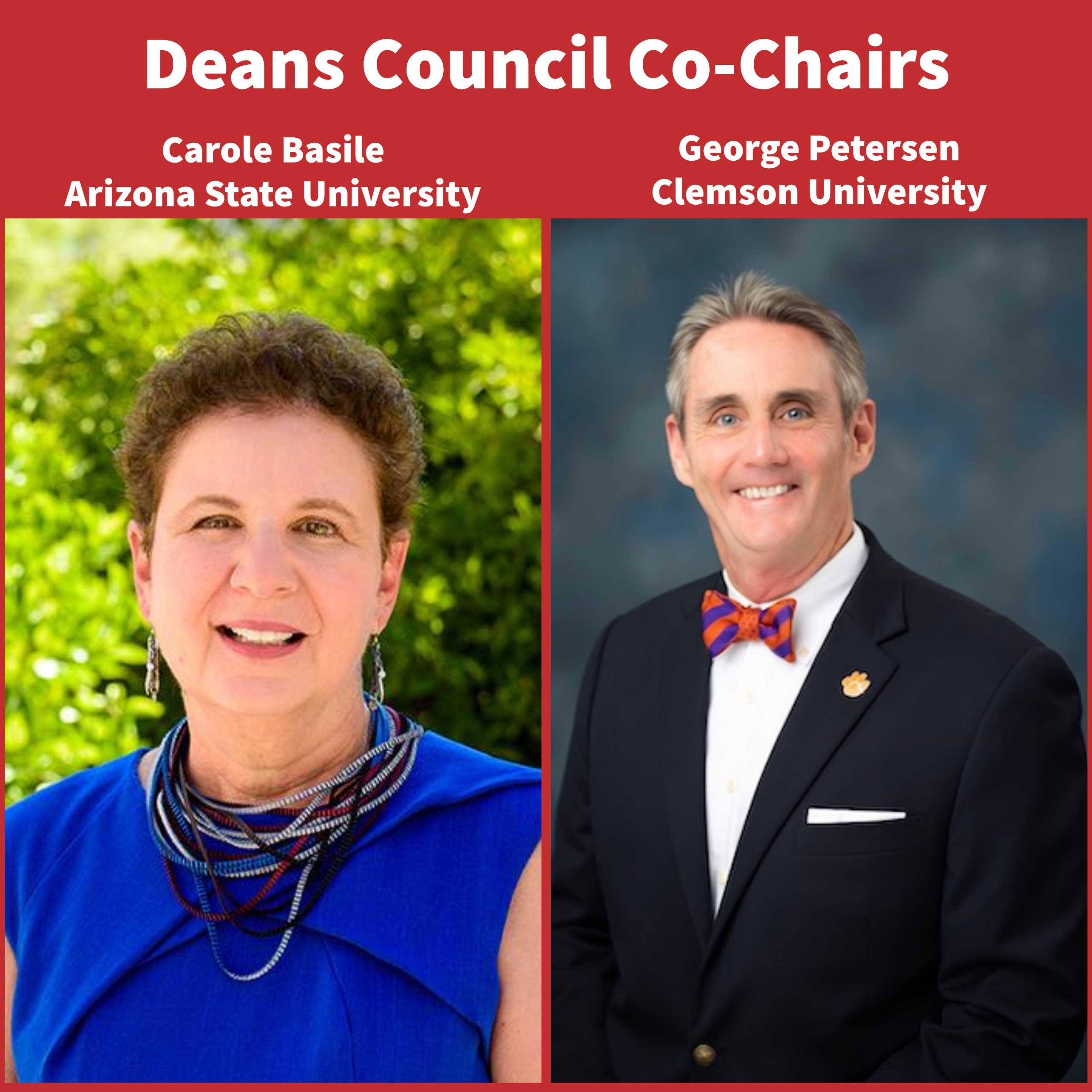 Deans Council Co-Chairs Carole Basile and George Petersen