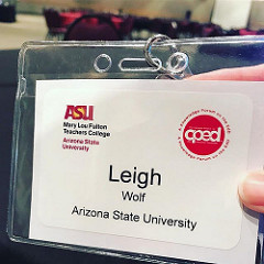 Leigh Graves Wolf CPED Convening name tag