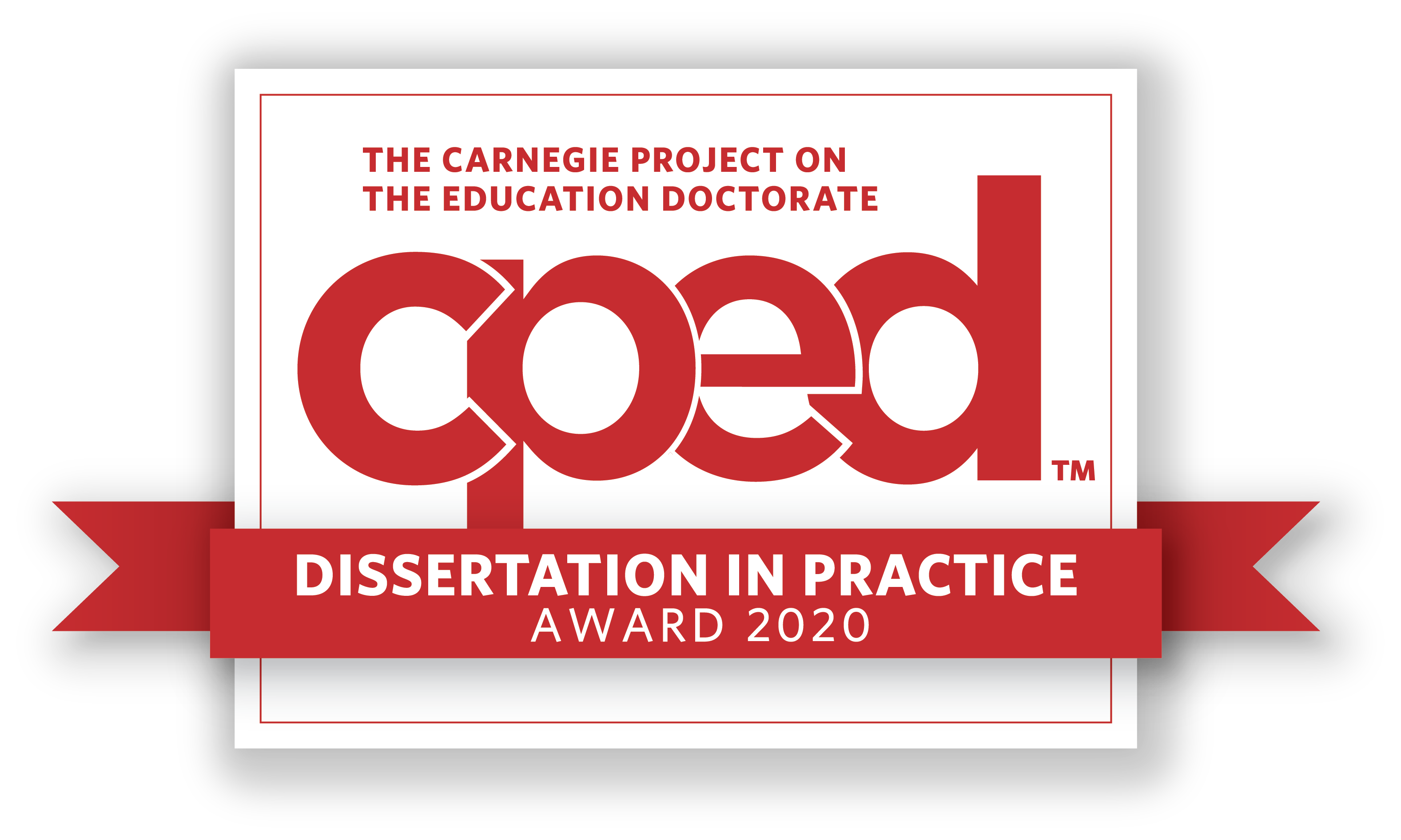 2020 Dissertation in Practice of the Year Award logo